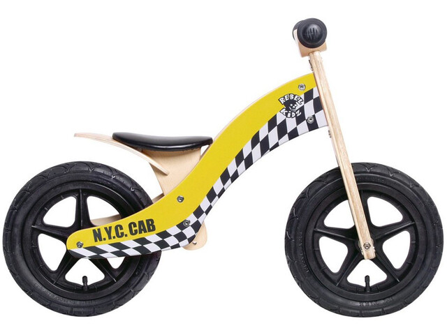 "Rebel Kidz Wood Air Lernlaufrad 12"" Taxi/gelb"